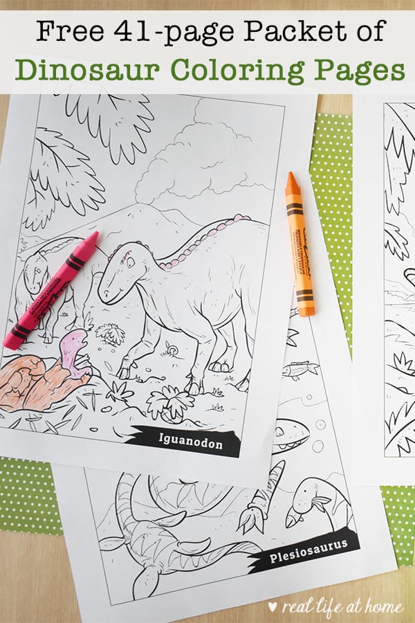 Free Printable Dinosaur Coloring Pages Packet For Kids (41 Pages)