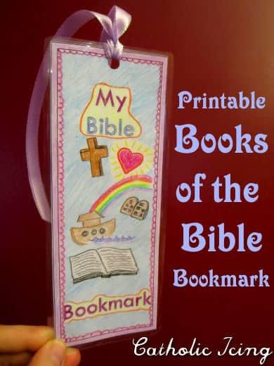 Catholic Books of the Bible free printable bookmarks