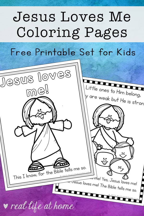 Jesus Loves Me Coloring Pages Set