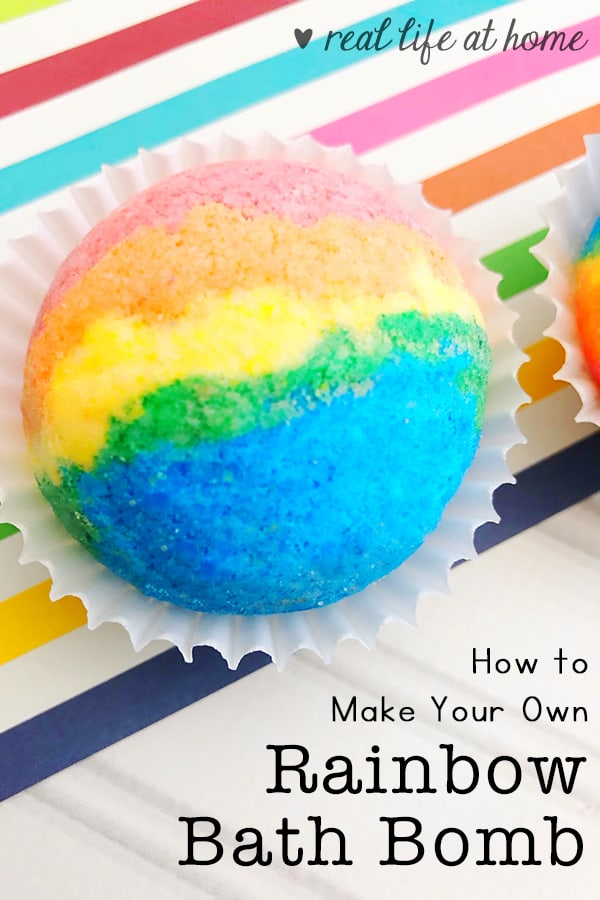 How to Make Your Own Rainbow Bath Bombs (on Real Life at Home)