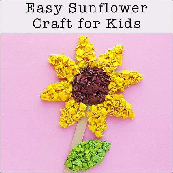 Easy Sunflower Craft for Kids