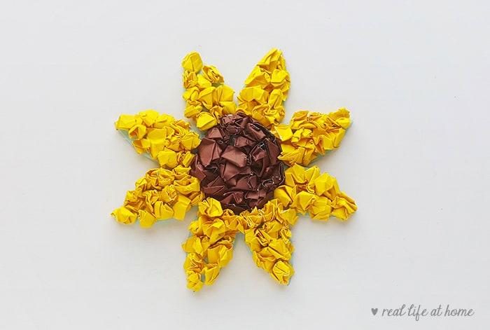 Easy Sunflower Paper Craft for Kids