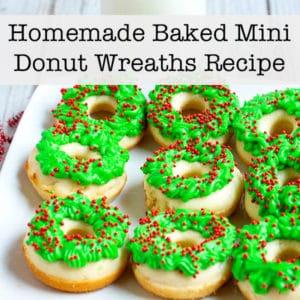 Homemade Baked Mini Donut Wreaths Recipe