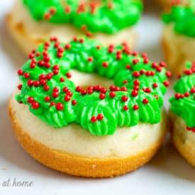Festive and Easy Christmas Recipe: Homemade Baked Mini Donut Wreaths Recipe