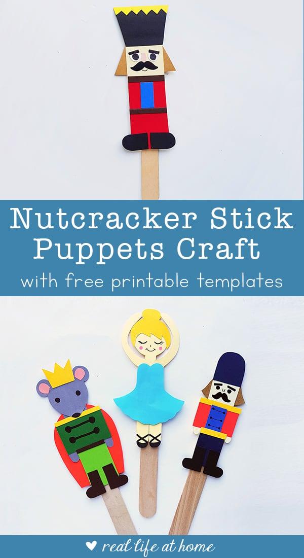 Nutcracker Craft for Kids: Nutcracker Ballet Stick Puppets