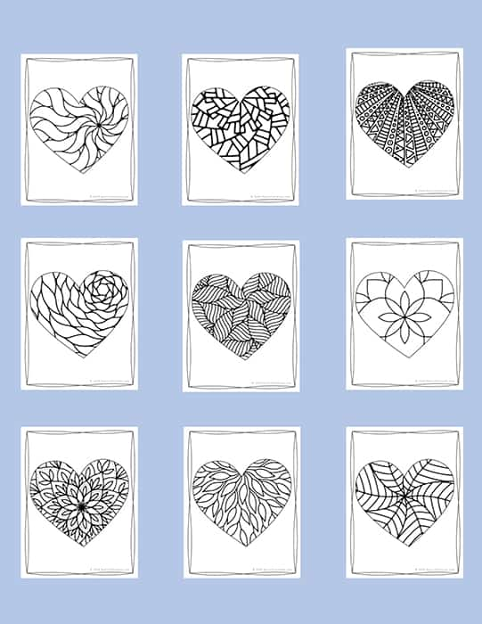 Valentine Coloring Pages Set from Real Life at Home