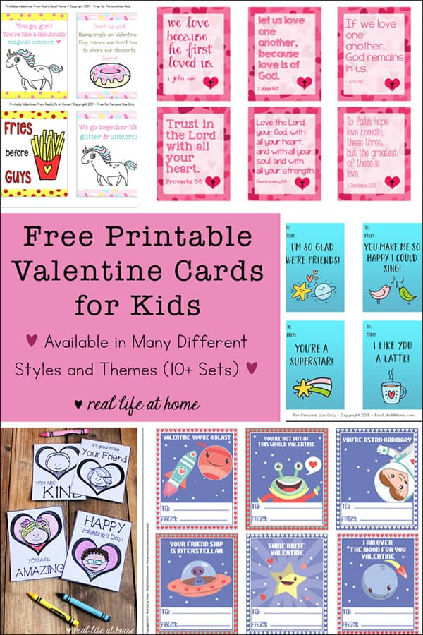 Free Printable Valentine Cards for Kids - Available in Many Different Styles and Themes (10+ Sets)