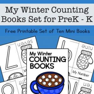 My Winter Counting Books for Preschool and Kindergarten - Set of Ten Mini Books for Kids
