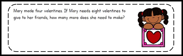 Valentine's Day Math Task Cards for 1st - 3rd Grade