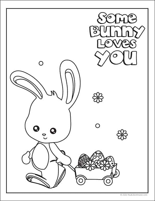 Free Easter Coloring Pages from Real Life at Home