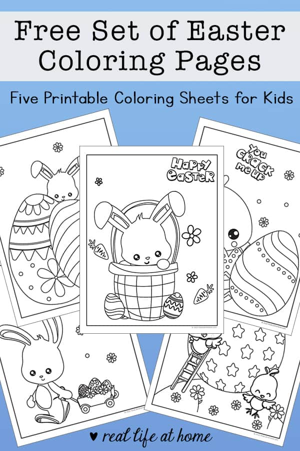 Free Set of Easter Coloring Pages: Five Printable Coloring Sheets for Kids