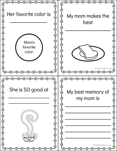 Mother's Day Mini Book Printable
