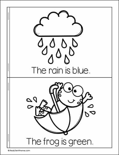 Spring Colors Mini Book for Preschool - 1st Grade