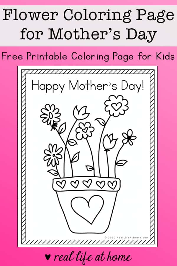 Happy Mother's Day Coloring Page Free Printable