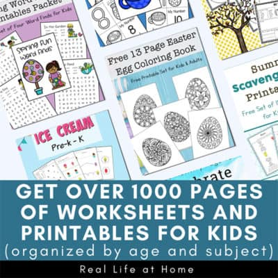 Worksheets and Printables Index Page