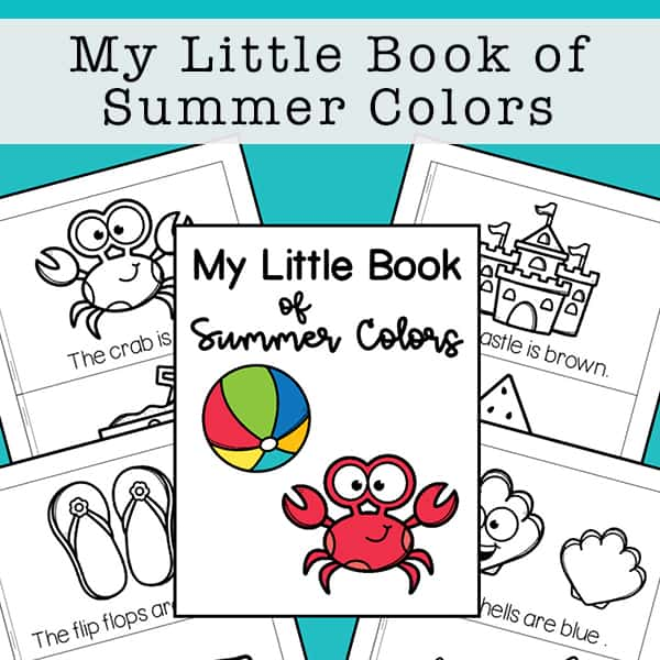 Printable My Little Book of Summer Colors