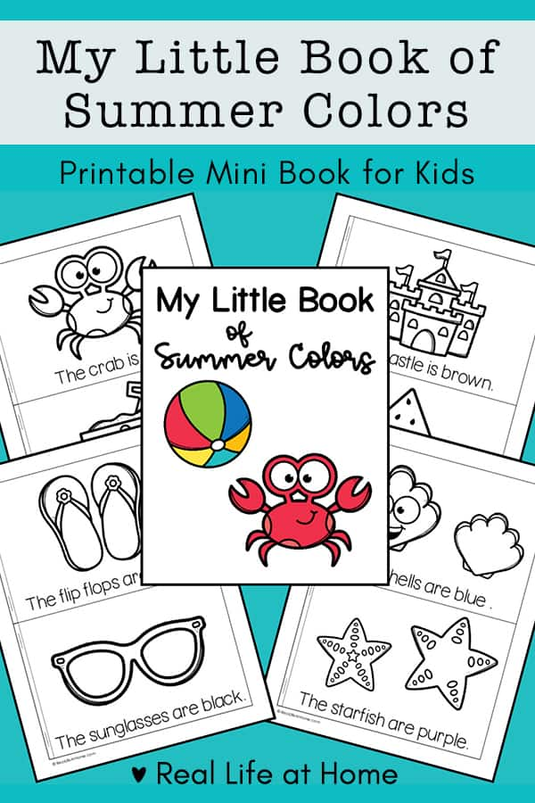 My Little Book of Summer Colors Free Mini Book