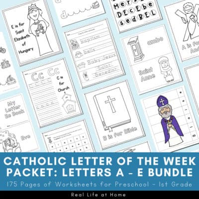 Catholic Letter of the Week A - E Bundle