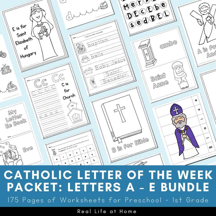 Catholic Letter of the Week A - E Bundle