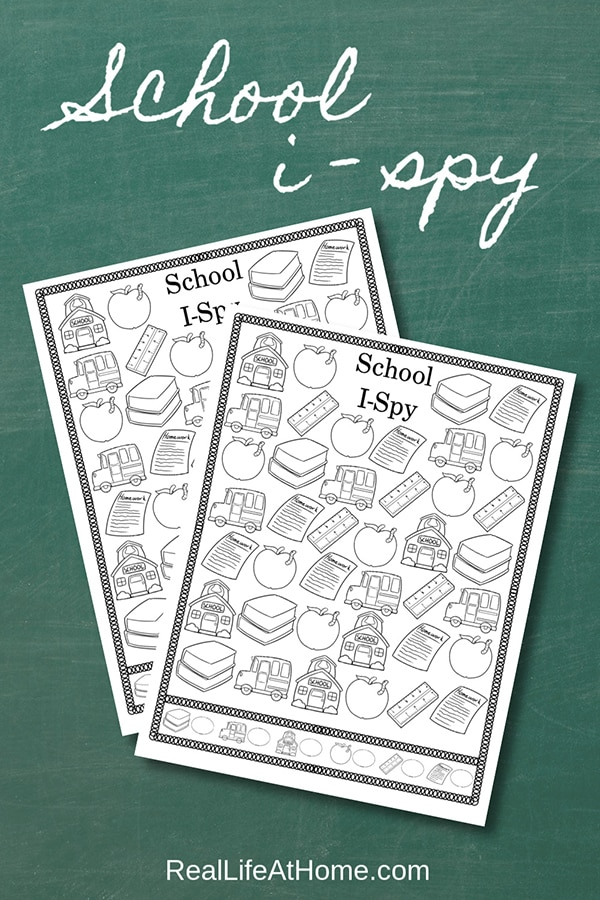 Free Printable School I Spy Activity