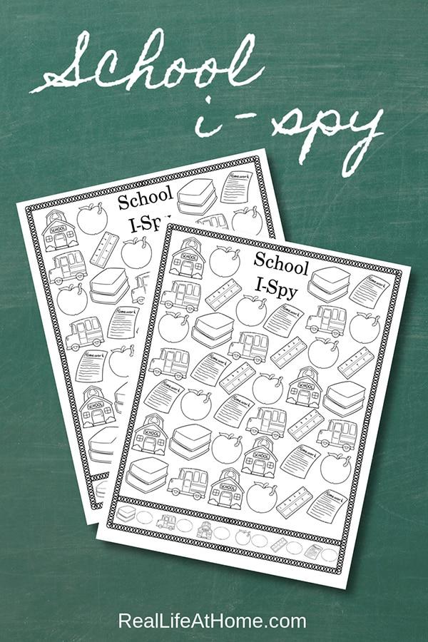 Free Printable School I Spy Activity
