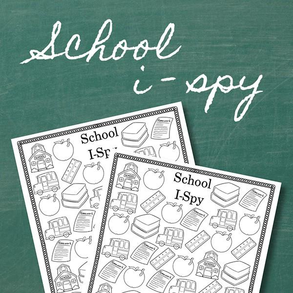 Back to School I Spy Printable Activity