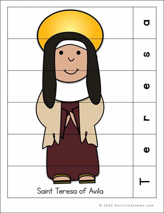 Saint Teresa of Avila Puzzle Page