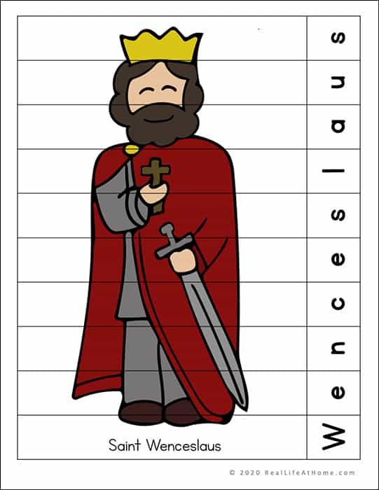 Saint Wenceslaus Puzzle Page Printable