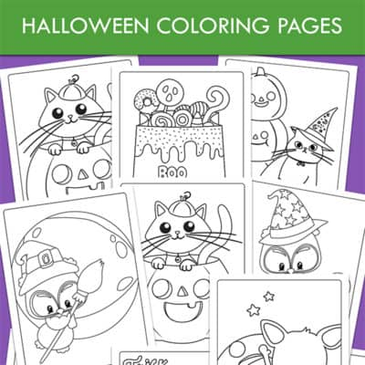 Halloween Coloring Pages Packet