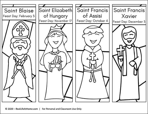 Saint Bookmarks Set