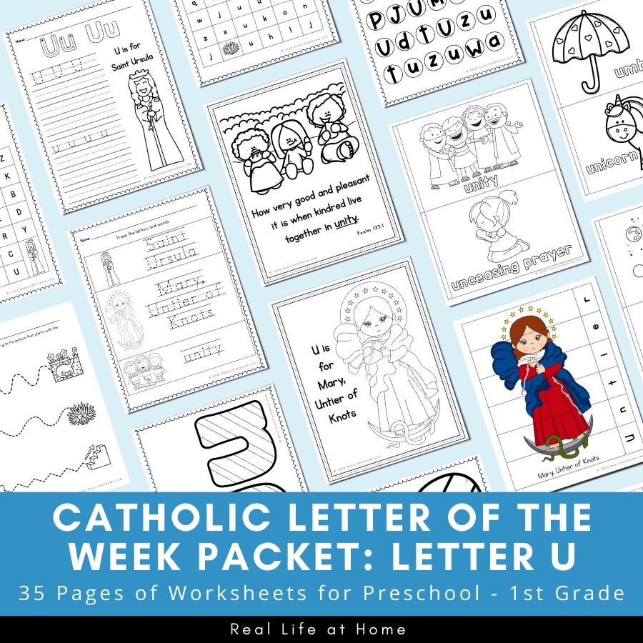 Catholic Letter of the Week Packet - Letter U
