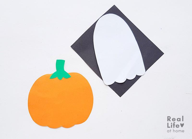 Halloween Bookmarks Craft Process