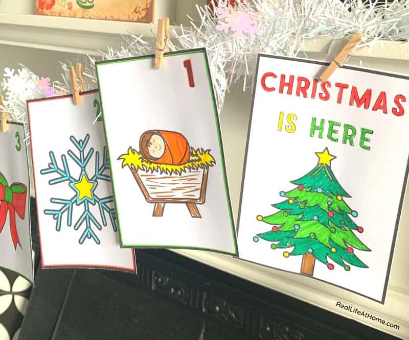 Advent Calendar Mini Coloring Pages