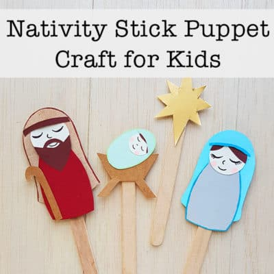 Nativity Stick Puppet Craft for Kids