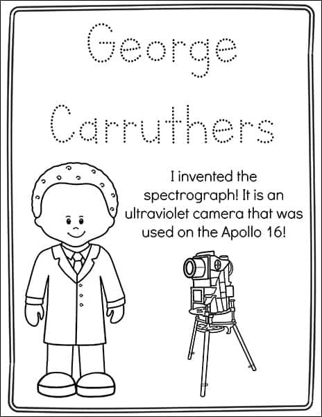 Black Inventors Coloring Pages
