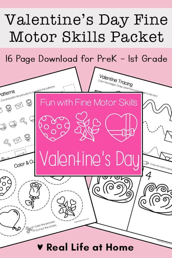 Valentine's Day Fine Motor Skills Packet