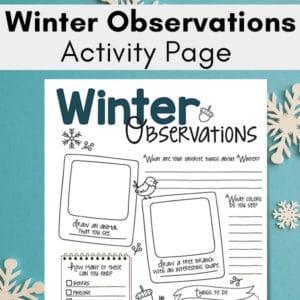 Winter Nature Study Printable