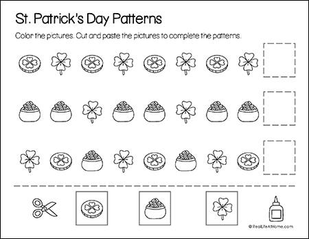 Saint Patrick's Day Math Patterns Page