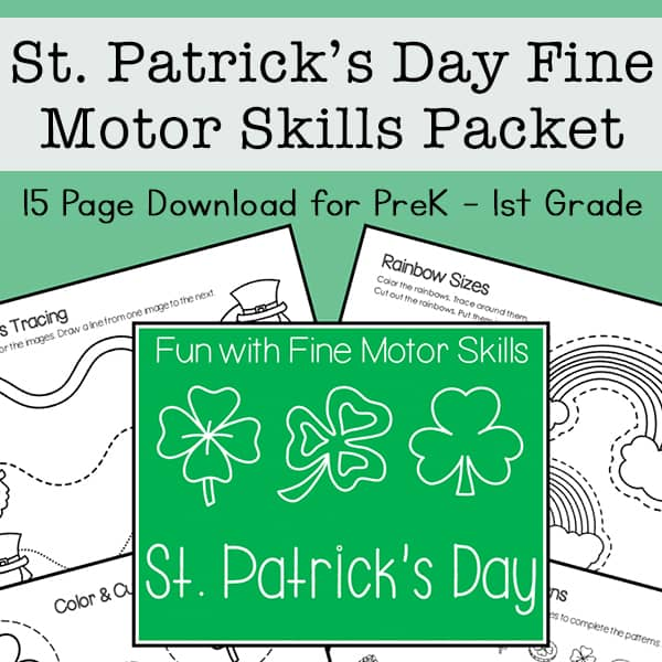 St Patrick's Day Fine Motor Skills Packet