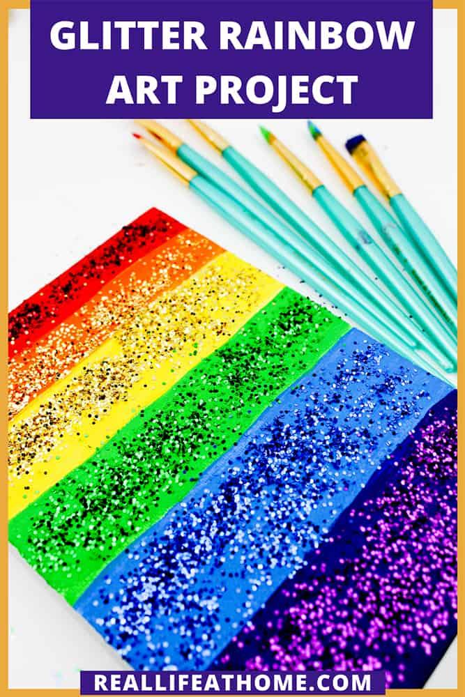 Glitter Rainbow Art Project