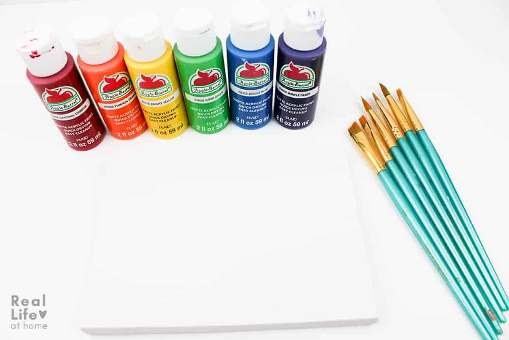 Rainbow Art Project Materials