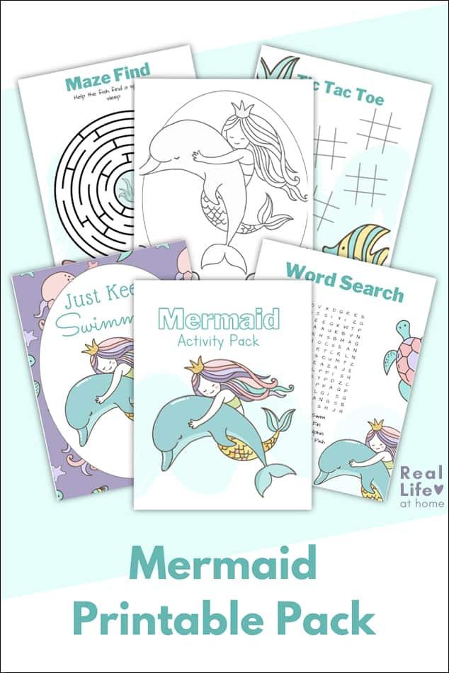 Mermaid Coloring Page Plus Mermaid Activity Sheets