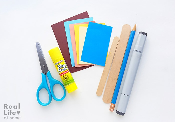Art Supplies for Goldilocks and the Three Bears Craft