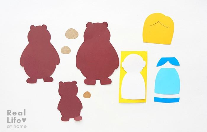 Goldilocks and the Three Bears Craft Step 2