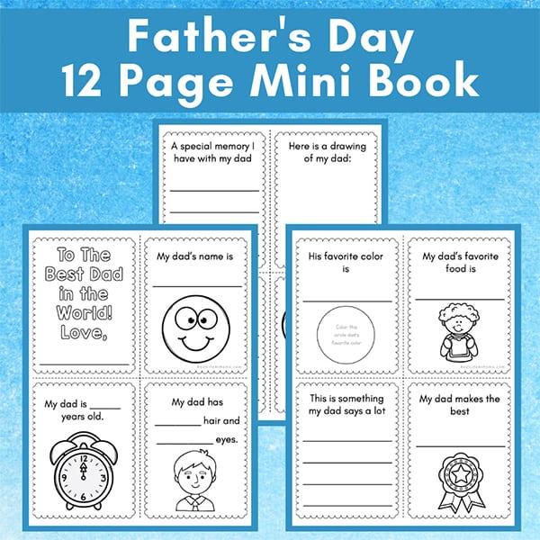 Father's Day Mini Book Printable