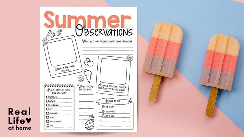 Summer Nature Observation Printable