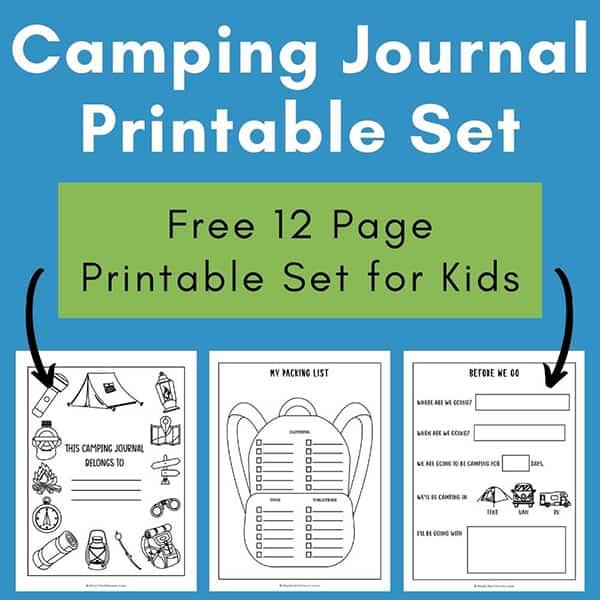 Camping Journal Printable Set