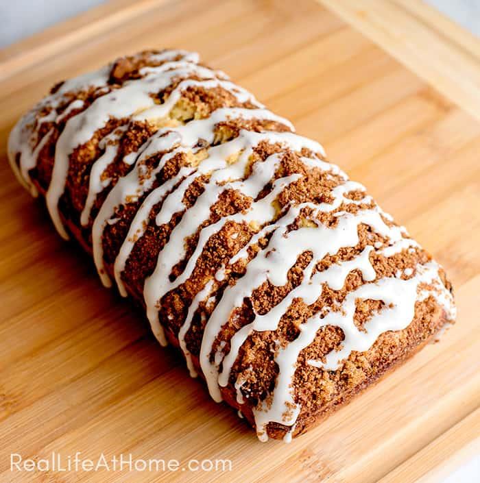 Cinnamon Raisin Bread with Brown Sugar Crumble and Glaze