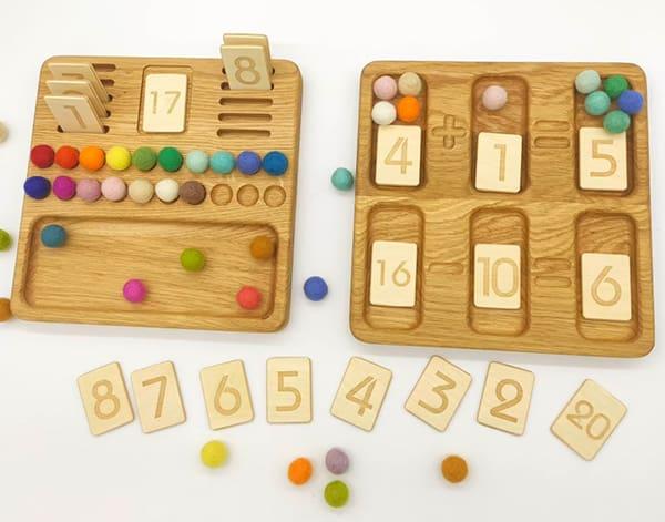 Montessori Wooden Math Board