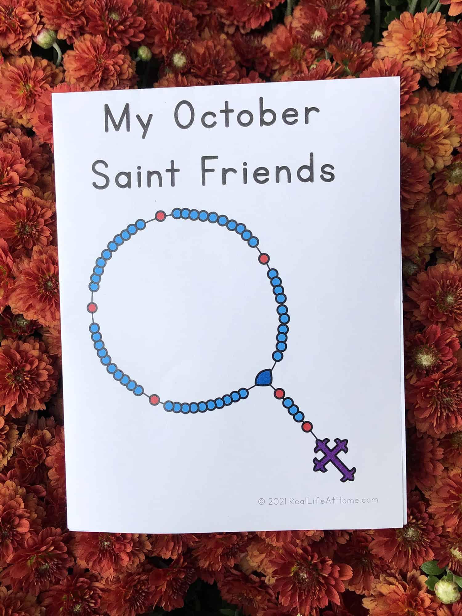 October Saint Friends Mini Book